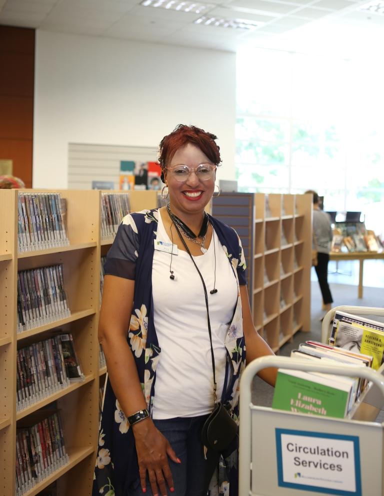 librarian at work