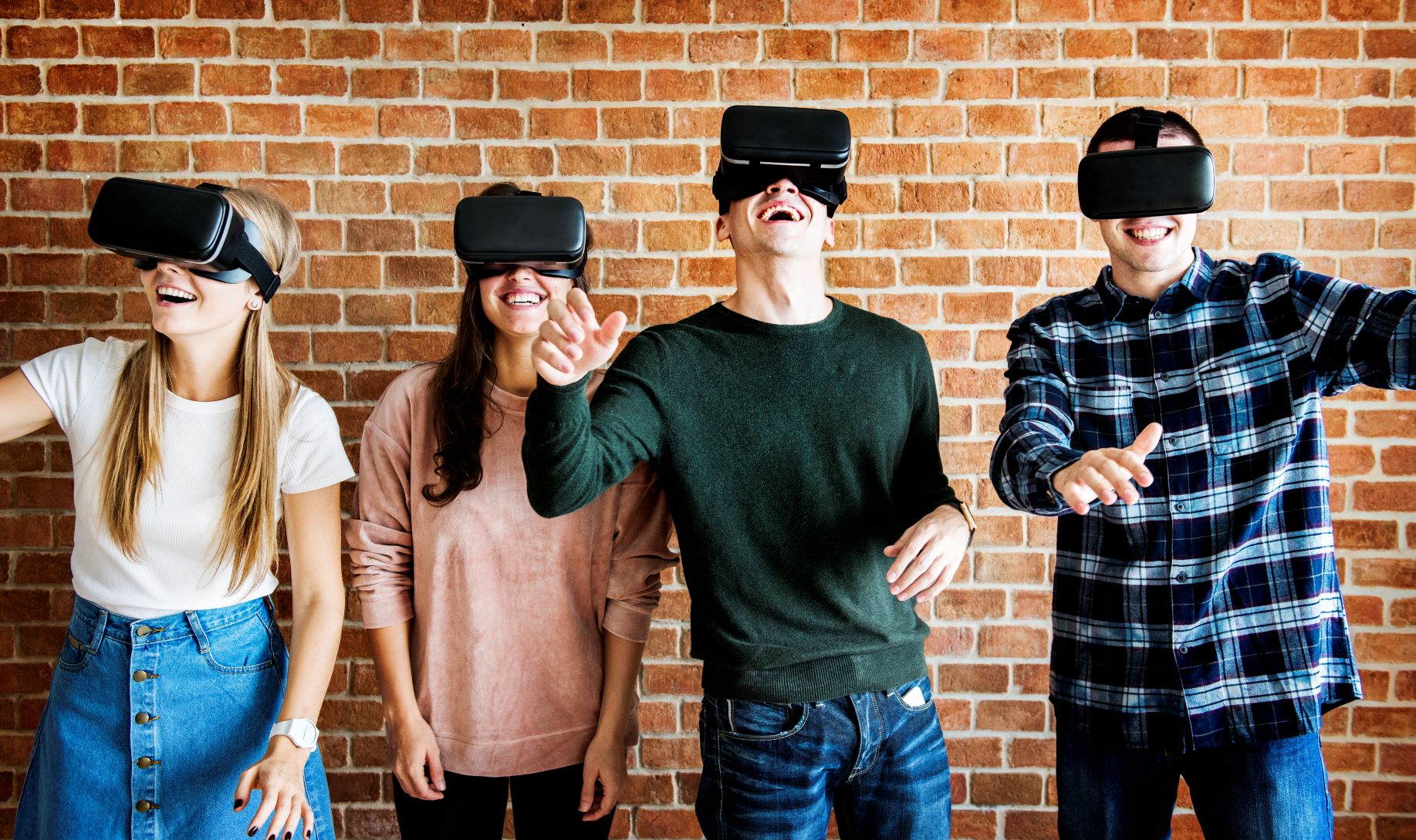 teens using VR headsets