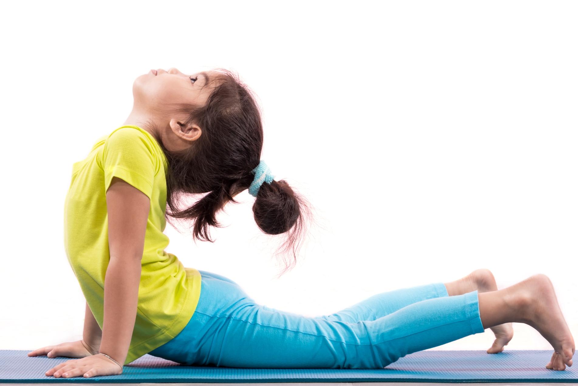 young girl yoga