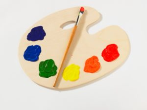 palette and paint brush