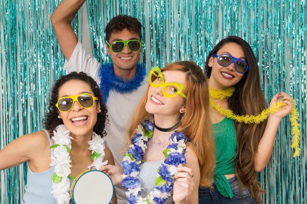 Teens In A Photo Booth