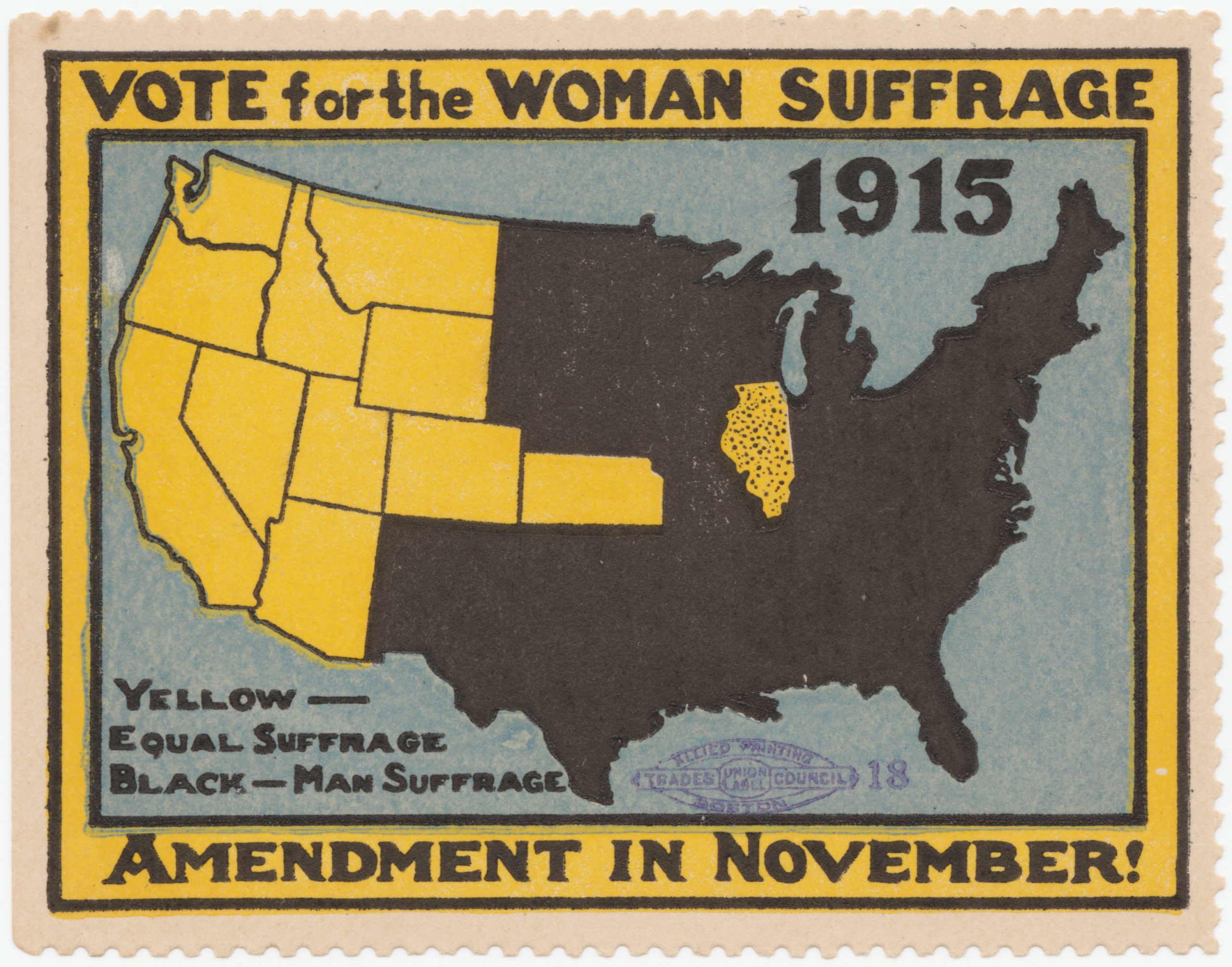 Map About Woman Suffrage Vote