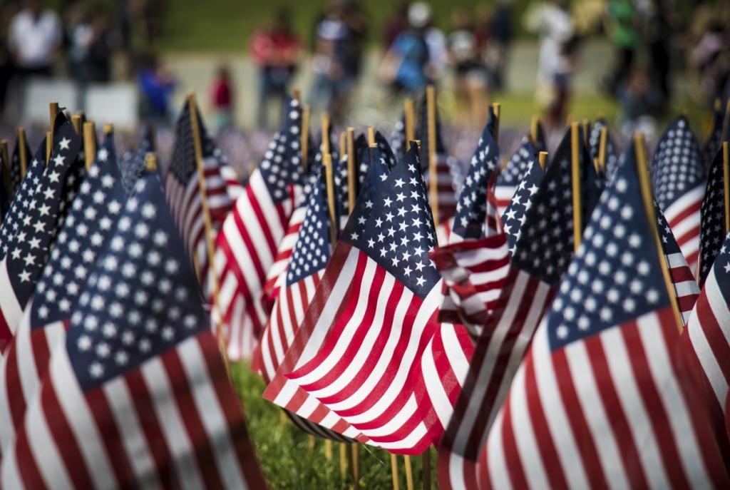 Memorial Day American Flags