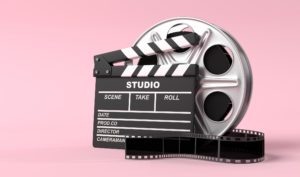 Film Reel and Clapboard