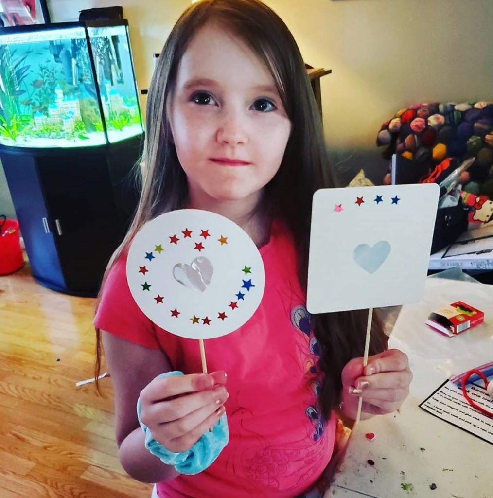 Child with craft