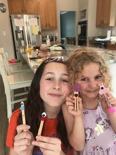 children with crafts