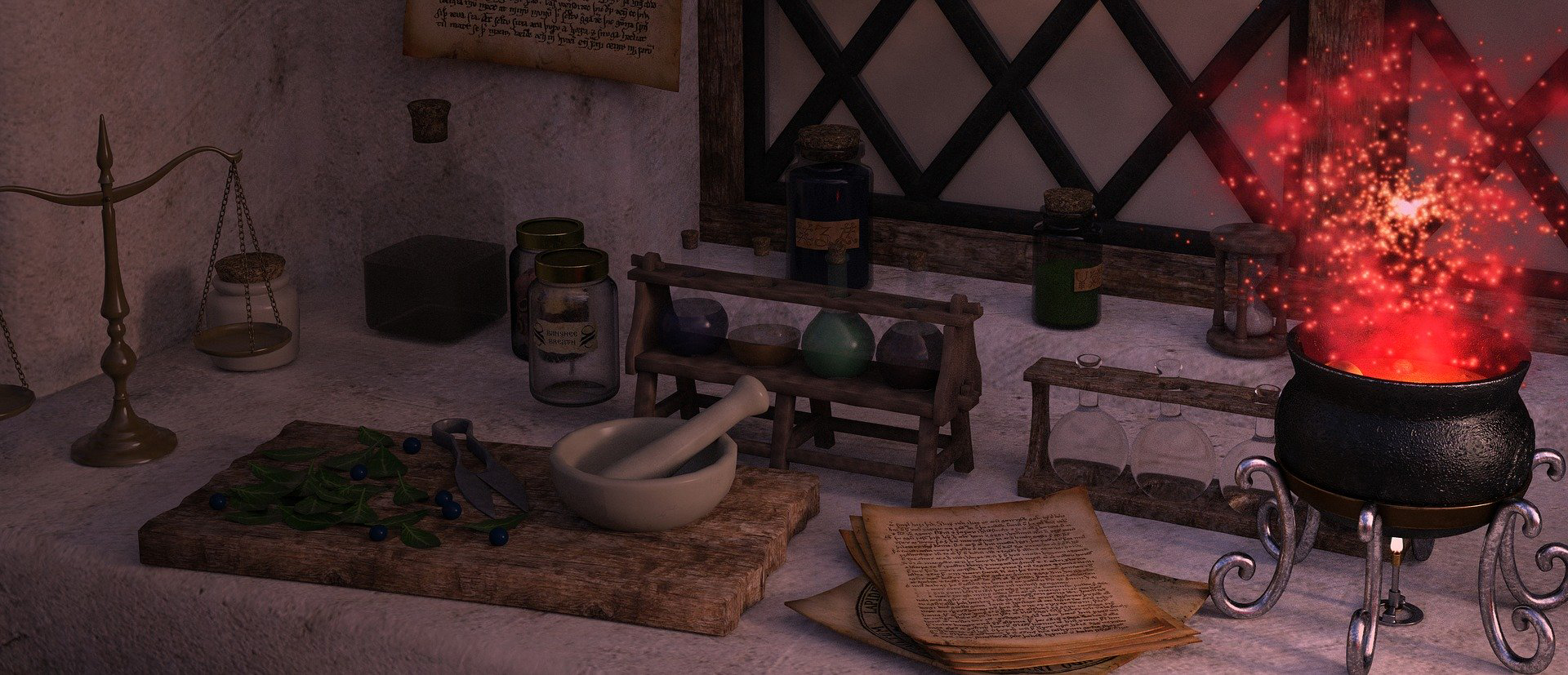 Table with Potion