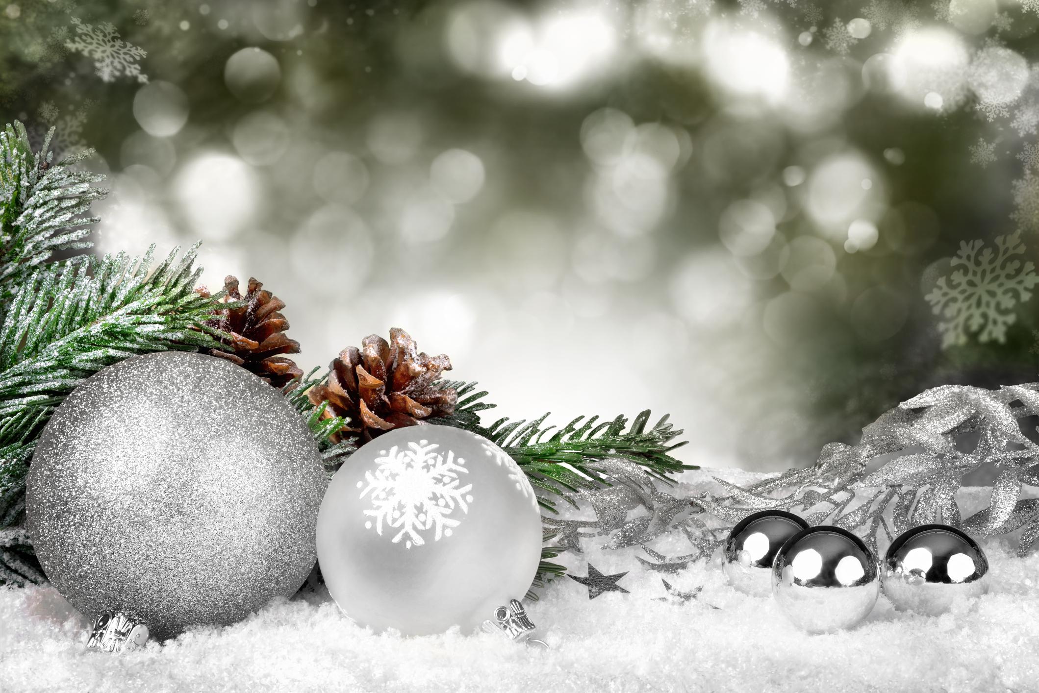 Wintery Christmas Ornaments