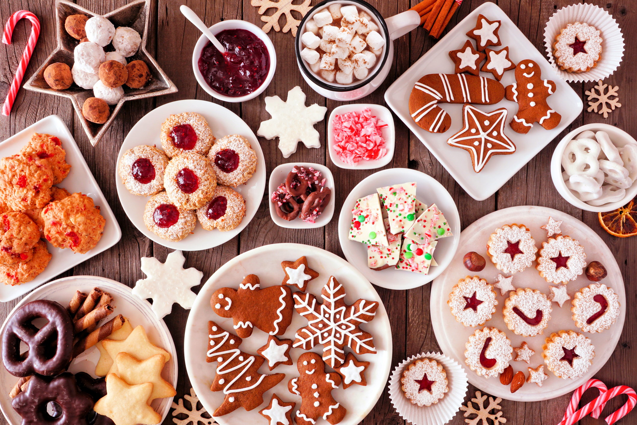 Table Of Holiday Cookies