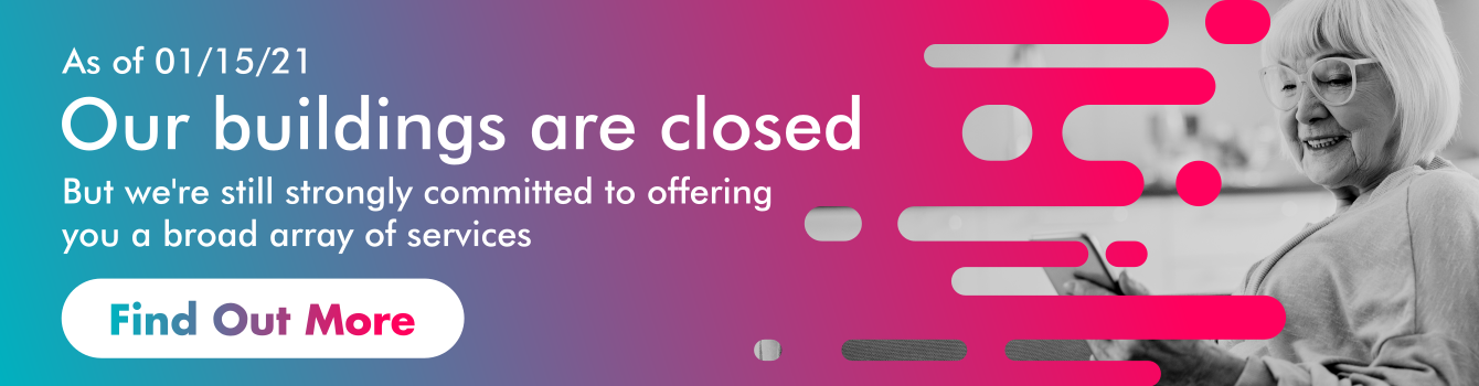 Temporary closing banner