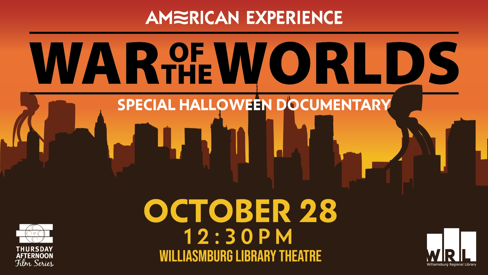 American Experience War of the Worlds special Halloween documentary October 28 12:30pm